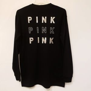 NWT Pink by Victoria Secret Bling Long Sleeve TEE